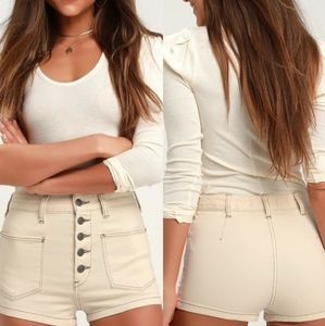 Free people bridgette button fly shorts 27 NWT
